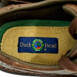 Duck Head Shoes - DUCK HEAD Men Dark Brown Leather Oxfords Loafers.